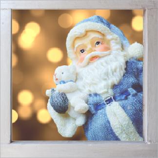 Beleuchtetes Weihnachtsbild auf der Kommode oder der Wand