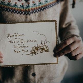 Selbstgedruckte Weihnachtskarten